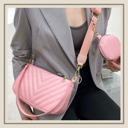 Chevron shoulder bag with matching coin purse  #LTKstyletip #LTKitbag #LTKunder50
