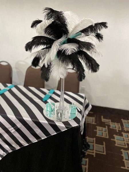 50th Birthday Party Prom Theme - Ostrich feather centerpieces    #LTKwedding #LTKstyletip #LTKSeasonal