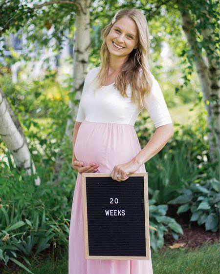 http://liketk.it/2SbBZ #liketkit @liketoknow.it #LTKbump #LTKfamily #LTKbaby  Baby Girl Maternity Shoot Dress 20 Weeks Pregnant