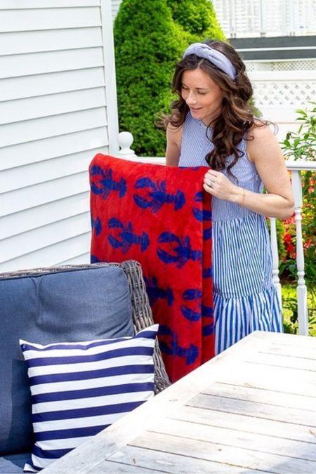 Chappy Wrap New Arrivals - Lobster Shack Navy Blanket - the softest best blanket ever http://liketk.it/3fCj4 #liketkit @liketoknow.it #LTKhome @liketoknow.it.home