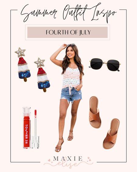 Summer Outfit - Fourth Of July 🧨  #summeroutfits #fourthofjuly #fourthofjulyoutfit #summerfashion #pinklilyboutique  #LTKSeasonal #LTKstyletip #LTKunder50