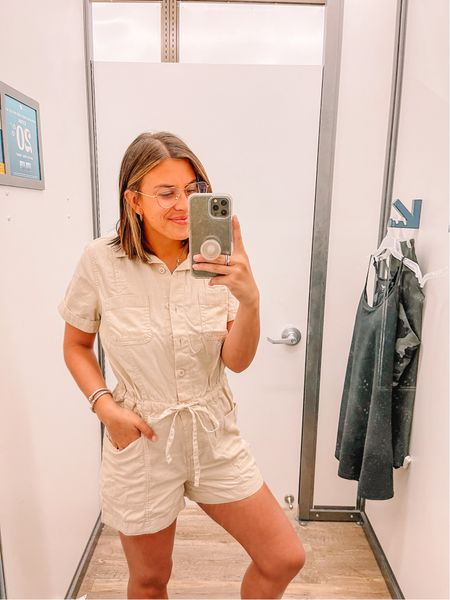 Love this utility romper. Cute for now and fall.   #LTKstyletip #LTKunder50 #LTKunder100