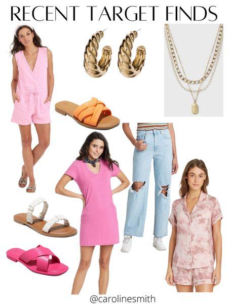 Recent Target Favs  #target #jeans #momjeans #targetstyle #hoops #shoelover #sandals #summerstyle #denim #dress #lounge #loungeset #LTKsalealert #LTKunder50 #LTKshoecrush @liketoknow.it #liketkit http://liketk.it/3iV1Y