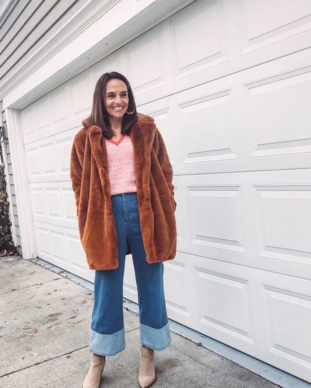 Not sure a faux fur jacket is for you?  Don't worry!  😏You can keep it for a month and then send it back! That's what @nuuly is all about and I can't stop talking about!  Have fun!  Try new things!  Get edgy-that's what I'm doing and it's sooooo fun 😁Dont forget to check out the blog on Thursday with all the info and a special link for $10 off!  Outfit pieces are linked in our profile and http://liketk.it/2GkmL @liketoknow.it  . . . . . #MyNuuly #nuuly #nuulystyle #nuulyfashion #fashionfun #fashion #lovefashion #sustainablefashion #sustainable #edgystyle #anthropologiestyle #anthropologie #loveanthropologie #fashionsubscription #clothingsubscription #liketoknowit #liketoknowitstyle #momdaughterblog #momdaughterduo #liketkit