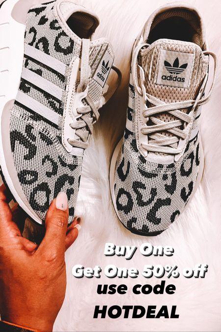 Adidas BOGO 50% off, animal print adidas, leopard print adidas   #LTKSale #LTKshoecrush #LTKunder100