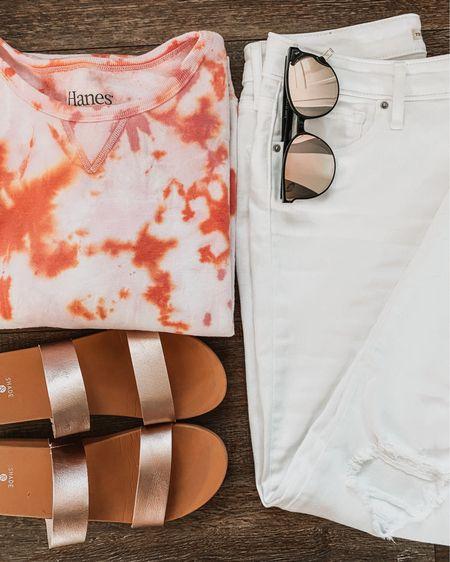Styling white jeans, tie dye edition http://liketk.it/2T0JE @liketoknow.it #liketkit #LTKcurves #LTKstyletip