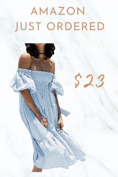 Amazon fashion Amazon dress under $30 http://liketk.it/3dy1l #liketkit @liketoknow.it #LTKunder100 #LTKunder50 #LTKstyletip       Gingham  Amazon find  Spring dress  Summer dress  Amazon spring  Amazon summer