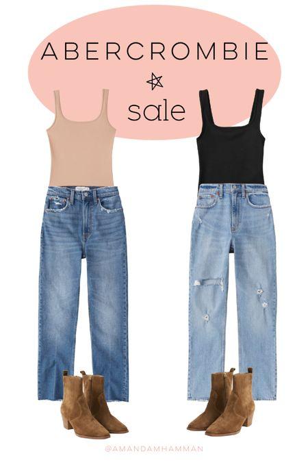 Abercrombie, sale, denim, bodysuit   #LTKunder50 #LTKSeasonal #LTKSale
