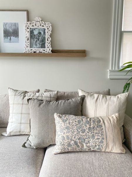 Muted living room throw pillows and decor!   #StayHomeWithLTK #LTKVDay #LTKhome