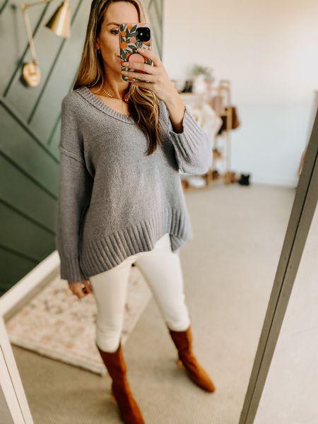 V Neck Knit Pullover Sweaters Color: Gray/TTS/Wearing a size S #ifounditonamazon #amazonfashion #amazonfinds #outfitoftheday #ootd #outfitideas #outfitinspo #amazonsweater #amazonfallfashion #amazonwinterfashion   http://liketk.it/3pOqy   @liketoknow.it #liketkit #LTKshoecrush #LTKSeasonal #LTKbeauty #LTKfit #LTKstyletip