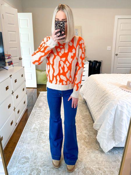 Orange leopard print sweater! Size: SM.. 15% off with KELSIE15   #LTKsalealert #LTKSeasonal #LTKHoliday