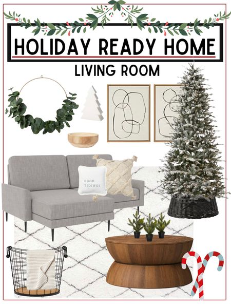 Living room refresh   Home furnishings and holiday decor linked below!        Living room , living room decor , home decor , holiday decor , Christmas decor , area rug , coffee table , target style , target home decor , target Christmas , walmart finds , walmart home decor , Christmas trees , ruggable #ltkunder100 , amazon home , tree collar , amazon finds , flocked tree , pre lit Christmas trees #ltkunder50 #ltkstyletip  #LTKHoliday #LTKSeasonal #LTKhome #LTKSeasonal #LTKhome #LTKHoliday