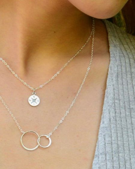 Mothers Day Silver Circle Necklace.    Mother Daughter.  Mom.  Mothers Day Gift.  Necklace.  Amazon Gifts.  Mother.  Gift ideas.  Silver. Circles Necklace.     #LTKunder50 #liketkit #LTKbeauty @liketoknow.it @liketoknow.it.family http://liketk.it/3ezdW