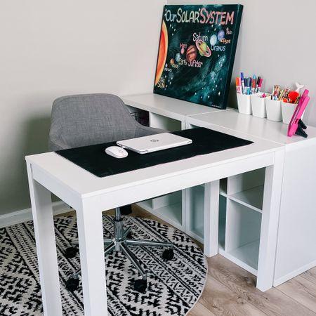 Back to school, desk, rug, work from home, home office   #LTKbacktoschool #LTKkids #LTKhome
