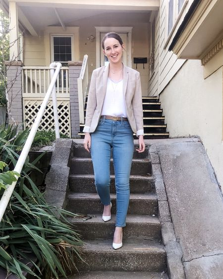 http://liketk.it/3fd7W #liketkit @liketoknow.it #LTKworkwear business casual, work outfit, blazer with jeans, real estate outfit