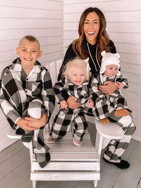 Matching holiday jammies Oldnavy style Buffalo plaid  #LTKHoliday #LTKSeasonal #LTKfamily