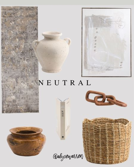 Affordable home decor avail at TJ Maxx online!  Kitchen runner, rug, urn vase, table decor, kitchen decor, abstract art, wood bowl, storage basket, toy storage, playroom, nursery, AD at 100 coffee table book, wooden links decor, console table, coffee table, ottoman, living room  #LTKhome