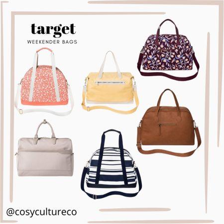 Target weekender bags!   Perfect for weekend getaways / target finds / target bags   #target   #LTKunder50 #LTKitbag #LTKSeasonal