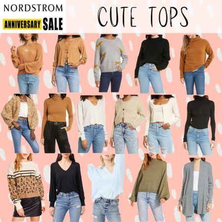 NSale Nordstrom anniversary sale affordable tops cute tops shirts blouses sweaters layers turtleneck cami tank top cardigan sets  #LTKunder100 #LTKunder50 #LTKsalealert