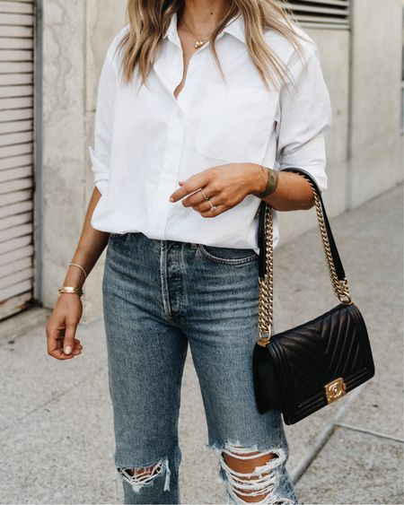 The perfect white button down shirt & it's part of my fall capsule wardrobe! Use code JACKSON15 for a discount and add to your closet now bc you'll be seeing me wear it all season!   #LTKunder100 #LTKstyletip #LTKunder50