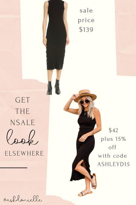 Nsale ribbed midi dress lookalike   #LTKunder50 #LTKsalealert #LTKstyletip