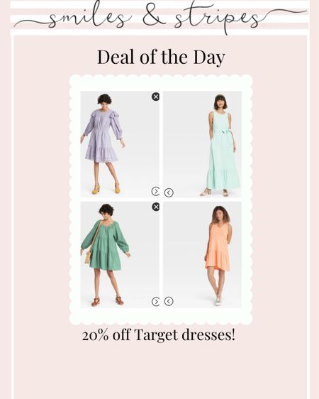 20% off Target dresses for spring! http://liketk.it/398CD @liketoknow.it #liketkit #LTKunder50 #LTKsalealert #LTKbump