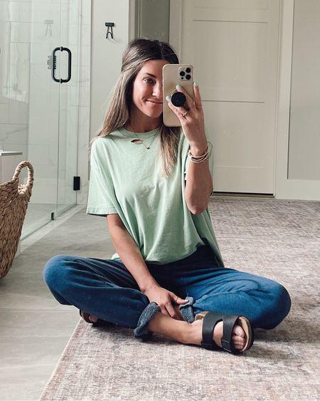 Tee size xs Birkenstock lookalike sandals from Amazon     http://liketk.it/3hciJ @liketoknow.it #liketkit #LTKtravel #LTKstyletip #LTKshoecrush