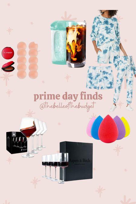 Amazon prime day sale finds. Tie dye matching sweats set - tts. Nipple covers. Wine glasses. Beauty blender. Cold coffee chiller.   #LTKsalealert #LTKunder50 #LTKstyletip