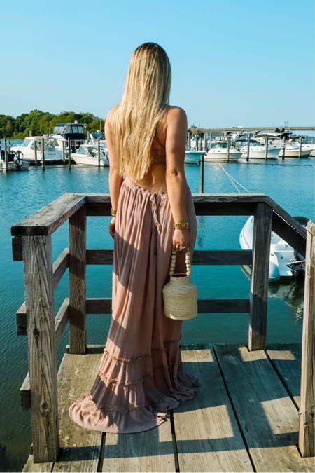 Fave sundress I've been wearing on repeat✨ Love every color it comes in http://liketk.it/3hY5B #liketkit @liketoknow.it #LTKitbag #LTKtravel #LTKstyletip #maxidress #longdress #sundress #bucketbag #summerbag #vacationlook #openback #backless