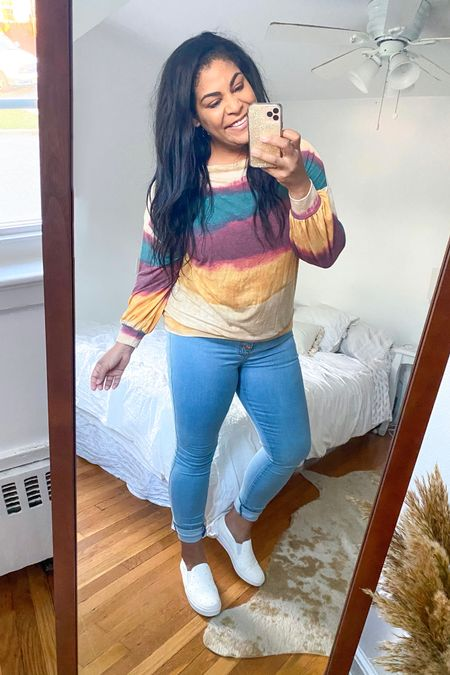 """Use code """"carlene15"""" for 15% off Shop Hopes ♥️ Sweatshirt sold out buy will keep an eye a restock! Jeans: 15. Shoes: So comfortable + TTS! #liketkit  @liketoknow.it #booties #falloutfit #fallootd #fallstyle #everydayoutfit #casualoutfit #curvystyle #plussize #shophopes http://liketk.it/2Y0a7  #LTKcurves #LTKunder50 #LTKFall #LTKshoecrush"""