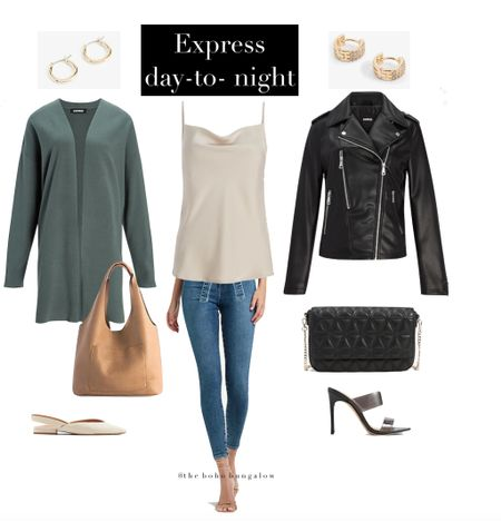 Express sale day-to-night wear! Skinny tie waisted denim with a silk cami, pair with a cardigan and flats for an easy everyday outfit ! Then swap the cardigan for a leather looking jacket and some pumps!    Work outfits Back to school outfits Maternity style  Denim Fall outfits  Date night outfits  Handbags   #LTKunder100 #LTKcurves #LTKFall #LTKbeauty #LTKworkwear #LTKtravel #LTKSeasonal #LTKgiftguide #LTKeurope #LTKbrasil #LTKitbag #LTKshoecrush #LTKhome    #LTKstyletip #LTKunder100 #LTKunder50  #LTKfamily #LTKfit #LTKstyletip
