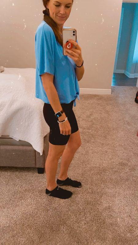 Loving these biker shorts! 2 pair for $20 from Walmart. Size down.   #LTKSeasonal #LTKunder50 #LTKstyletip