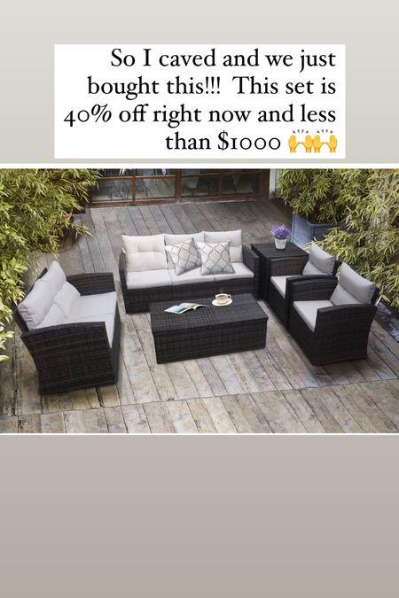 Wayfair / patio set/ conversation set/ less than 1000/ outdoor living space/ new patio/ best patio/   #LTKsalealert #LTKSpringSale #LTKSeasonal