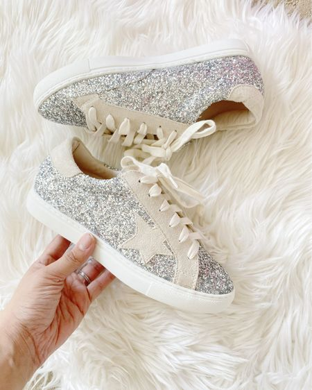 Amazon finds glitter star dupe sneakers http://liketk.it/3fXcf #liketkit @liketoknow.it #LTKshoecrush #LTKstyletip #LTKunder50