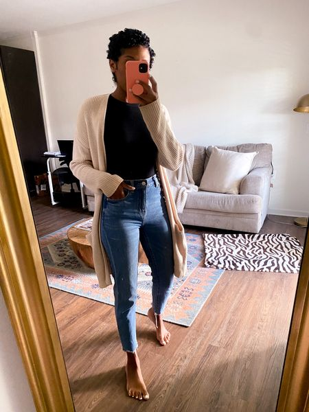 Lately I've realized while working from home I've been in sweats so today I made it a point to get dressed! Loving this cardigan and target has brought them back!   #LTKunder50 #LTKstyletip