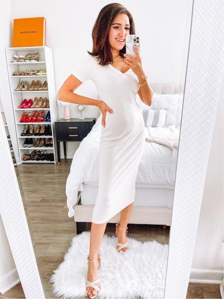 Ribbed midi midaxi dress on sale! Wearing 4   #LTKsalealert #LTKstyletip
