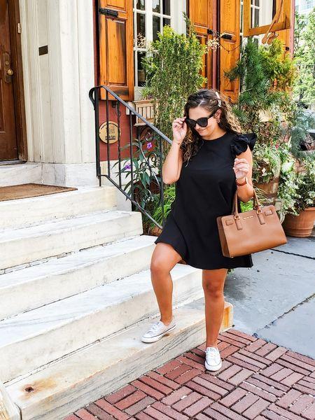 black summer dress | casual dress | under $30 and wearing a medium   #LTKSeasonal #LTKstyletip #LTKunder50