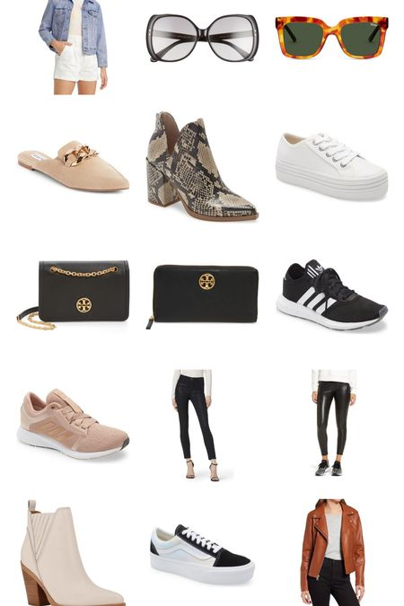 Did someone say #nsale? I've narrowed down my top finds! From @stevemadden booties and classic Bobbi sneakers at just $33 to some classic @toryburch finds and black pants to gear up for fall. Don't sleep on that faux moto jacket though or the classic Gucci sunnies…just sayin…Also tagged my favorite Quays, bc they're amazing & super affordable!!   #LTKstyletip #LTKsalealert #LTKshoecrush