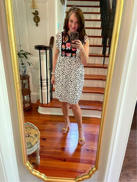 Amazon summer dress for the win! The animal print and embroidery top creates a fun, whimsical look! It's lined also! I'm wearing a small, but could probably wear a medium as well!   #LTKstyletip #LTKunder50 #LTKSeasonal