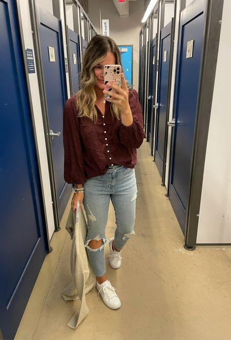 Old navy top and Abercrombie jeans and Walmart shoes #walmartfinds #walmartfashion #abercrombie #jeans #oldnavy   #LTKsalealert #LTKunder100 #LTKunder50