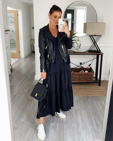 All black 🖤  Sizes  Dress Xs Leather jacket 8 (runs small)   http://liketk.it/3iOHm #liketkit @liketoknow.it