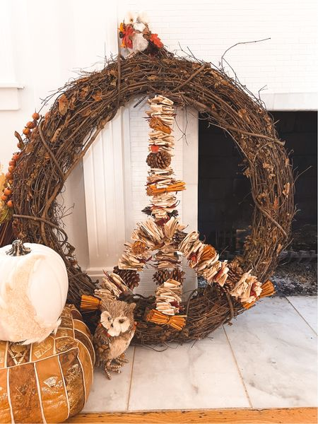 Easy fall diy peace sign wreath just needs two pieces of supplies!  #LTKHoliday #LTKhome #LTKunder50