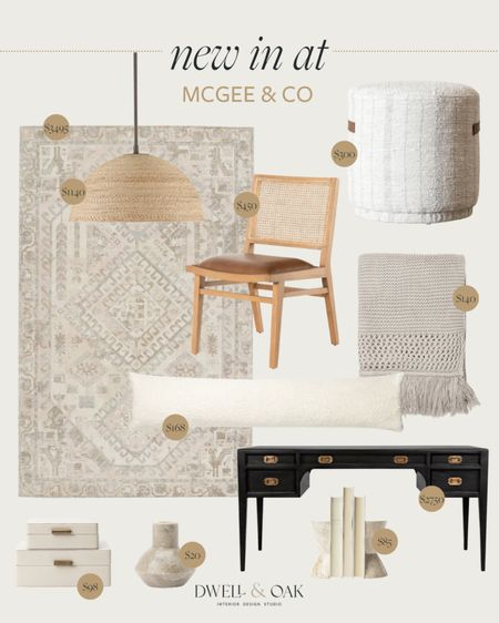 New arrivals at McGee & Co! Decorative accents, patterned rug, round ottoman, pendant light and more are live now and linked below #mcgeeandco #homedecor  #LTKstyletip #LTKhome