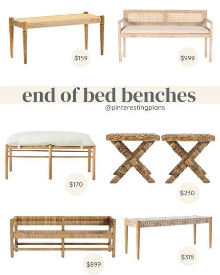 End of the bed benches at different price points. Modern home decor.   #LTKstyletip #LTKsalealert #LTKhome