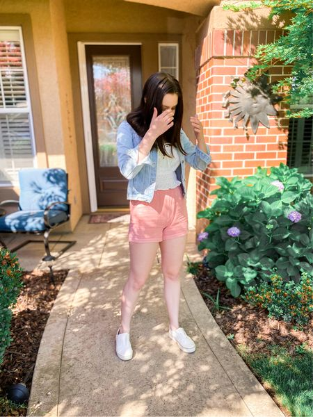 Summer outfit idea! All true to size (but go up in the top if you prefer a bit more length - has adjustable straps)💓 #summeroutfits #target #targetstyle #amazon #amazonfashion #amazonfinds #amazonfashionfinds #sneakers #whitesneakers   #LTKunder50 #LTKSeasonal #LTKstyletip