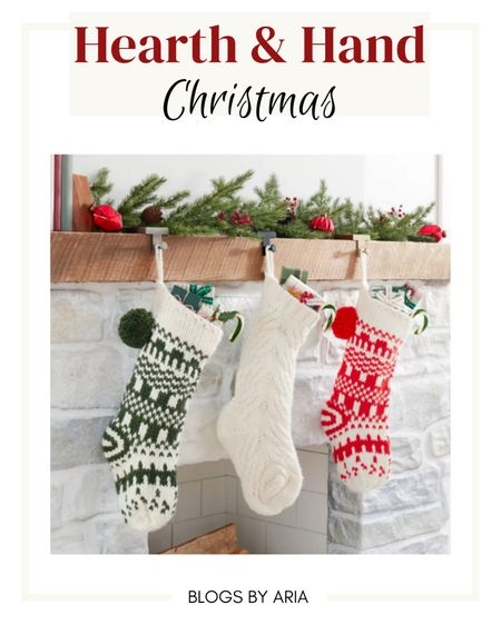 Hearth and Hand Christmas stockings! These knit stockings are so soft!   #LTKhome #LTKSeasonal #LTKHoliday