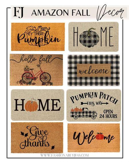 Fall front door mats  Amazon home decor, amazon finds, fall mats, fall decor   #LTKsalealert #LTKunder50 #LTKhome