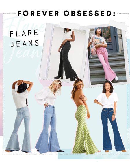 Flared jeans high waisted denim http://liketk.it/39Ogt #liketkit @liketoknow.it #LTKstyletip #LTKunder100