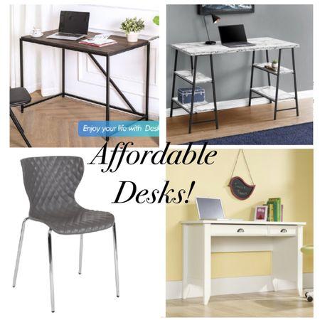 Affordable desks for home office homeschool or virtual school.  Can be a child desk or adult!  Great for work from home .  http://liketk.it/2V8he #liketkit @liketoknow.it @liketoknow.it.home #StayHomeWithLTK #LTKhome #LTKsalealert white desk wood desk office chair desk chair playroom