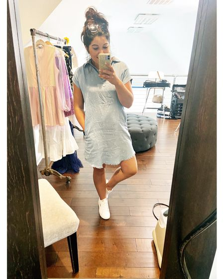 """Legitimately the easiest outfit I've thrown on in awhile and the most compliments too so it looks like this is gonna be a summer staple 😎 got a fresh pair of white kicks #sorrynotsorry but I need to know if I bring back the blog and do a """"wedding guest edition"""" for ideas of what to wear- would you read it?! Everything would be linkable for you and if it's not I'll grab you a dupe... I've been thinking about bringing back the blog for a once a week post anyways buuuut 😅😬 like I need another thing to do 😂 http://liketk.it/3hhv3 #liketkit @liketoknow.it #LTKshoecrush #LTKunder50 #LTKstyletip @liketoknow.it.brasil @liketoknow.it.family @liketoknow.it.europe @liketoknow.it.home Shop your screenshot of this pic with the LIKEtoKNOW.it shopping app Shop my daily looks by following me on the LIKEtoKNOW.it shopping app"""